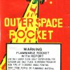 Outer space rocket red
